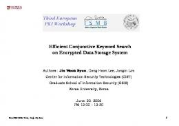 Efficient Conjunctive Keyword Search on Encrypted Data Storage ...
