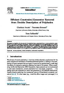 Efficient Constraint/Generator Removal from Double ... - Core