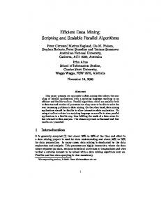Efficient Data Mining: Scripting and Scalable ... - Semantic Scholar