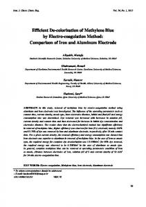 Efficient De-Colorization of Methylene Blue by - Iranian Journal of