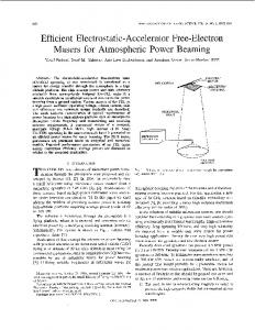 Efficient Electrostatic-Accelerator Free-Electron Masers for ...