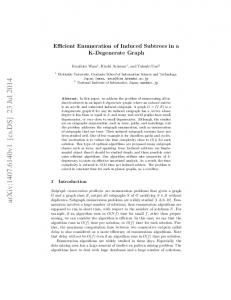 Efficient Enumeration of Induced Subtrees in a K-Degenerate Graph