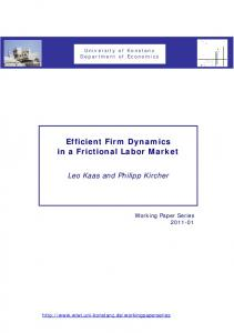 Efficient Firm Dynamics in a Frictional Labor Market