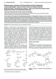 Efficient green synthesis of