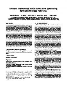 Efficient Interference-Aware TDMA Link Scheduling for Static Wireless ...