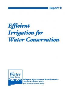 Efficient Irrigation for Water Conservation - College of Agricultural ...