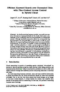 Efficient Keyword Search over Encrypted Data with ... - Springer Link