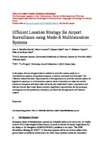 Efficient Location Strategy for Airport Surveillance ...