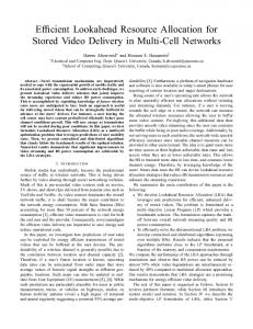 Efficient Lookahead Resource Allocation for Stored Video Delivery in ...