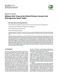 Efficient MAC Protocol for Hybrid Wireless Network with
