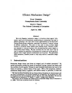 Efficient Mechanism Design - CiteSeerX