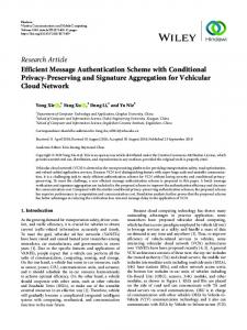 Efficient Message Authentication Scheme with Conditional Privacy
