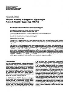 Efficient Mobility Management Signalling in Network Mobility ...