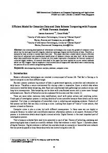 Efficient Model for Detection Data and Data Scheme Tempering ... - ipcsit