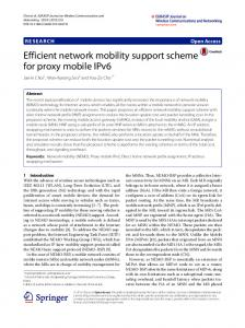 Efficient network mobility support scheme for proxy mobile IPv6 ...