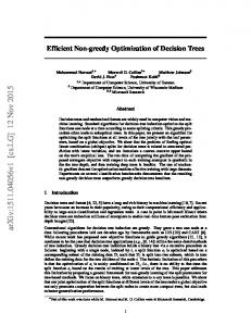 Efficient non-greedy optimization of decision trees