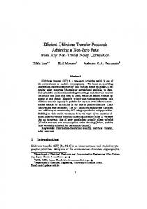 Efficient Oblivious Transfer Protocols Achieving a Non-Zero Rate from ...