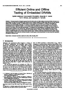 Efficient Online and Offline Testing of Embedded ... - Semantic Scholar