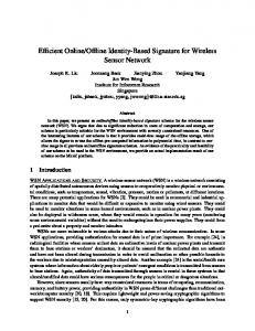 Efficient Online/Offline Identity-Based Signature for Wireless Sensor ...