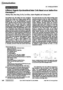Efficient OrganicDyeSensitized Solar Cells ... - Wiley Online Library