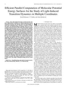 Efficient Parallel Computation of Molecular Potential Energy Surfaces ...