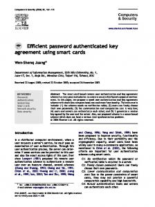 Efficient password authenticated key agreement using smart cards