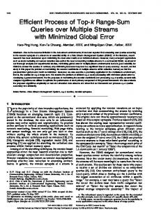 Efficient Process of Top-k Range-Sum Queries over Multiple Streams ...
