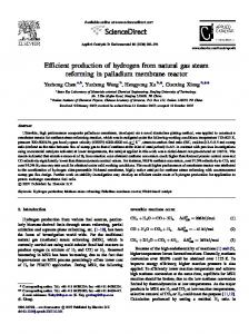 Efficient production of hydrogen from natural gas steam reforming in ...
