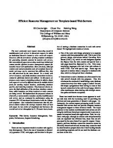Efficient Resource Management on Template ... - Computer Science