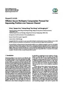 Efficient Secure Multiparty Computation Protocol for Sequencing ...