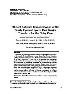 Efficient Software Implementation of the Nearly ... - SciELO Colombia