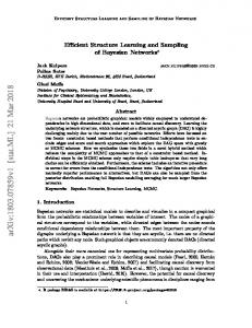 Efficient Structure Learning and Sampling of Bayesian Networks