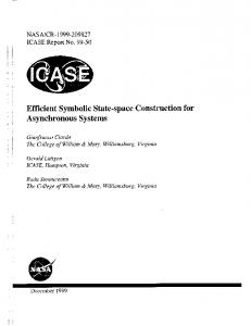 Efficient Symbolic State-space Construction for ... - CiteSeerX