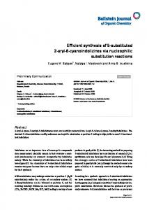 Efficient synthesis of 5-substituted 2-aryl-6 ... - Beilstein Journal