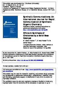 Efficient Synthesis of Chalcones by a Solid Base