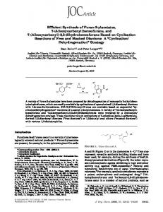 Efficient Synthesis of Furan-2-ylacetates, 7 - American Chemical Society