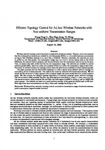 Efficient Topology Control for Ad-hoc Wireless Networks with Non