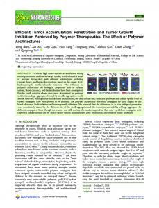Efficient Tumor Accumulation, Penetration and ... - ACS Publications