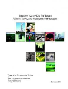 Efficient Water Use for Texas - Texas Water Resources Institute