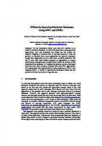 Efficiently Querying Relational Databases Using ... - Semantic Scholar