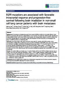 EGFR mutations are associated with favorable ... - BioMedSearch