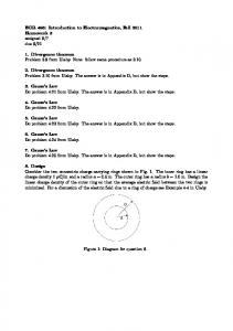 EGR 498: Introduction to Electromagnetics, Fall 2011 Homework 3 ...
