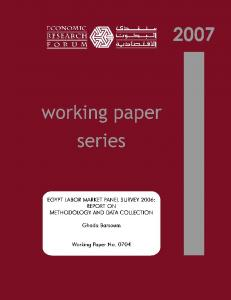 Egypt Labor Market Panel Survey 2006: Report on ...