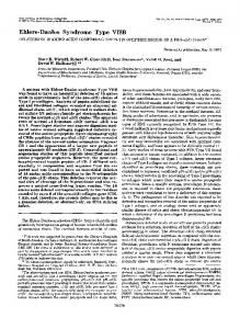 Ehlers-Danlos Syndrome Type VIIB - The Journal of Biological ...