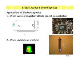 EIE338 Applied Electromagnetics Applications of Electromagnetics ...