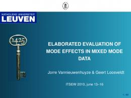 elaborated evaluation of mode effects in mixed mode data
