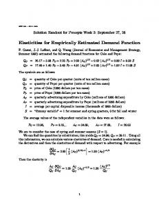 Elasticities for Empirically Estimated Demand Function