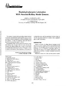 Elastohydrodynamic Lubrication With Herschel-Bulkley ... - CiteSeerX