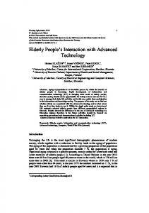 Elderly People's Interaction with Advanced ... - Semantic Scholar