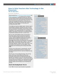 elearn Magazine: How to Help Teachers Use Technology in the ...